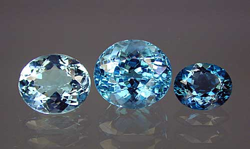 Treated Blue Topaz. Photo by Wimon Manorotkul